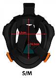 Оригінальна підводна повнолицьова маска для плавання снорклінга пірнання дитяча жіноча SportVida (SV-DN0020), фото 10