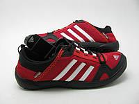 Кроссовки Adidas daroga красные / мужские кроссовки / сетка / текстиль