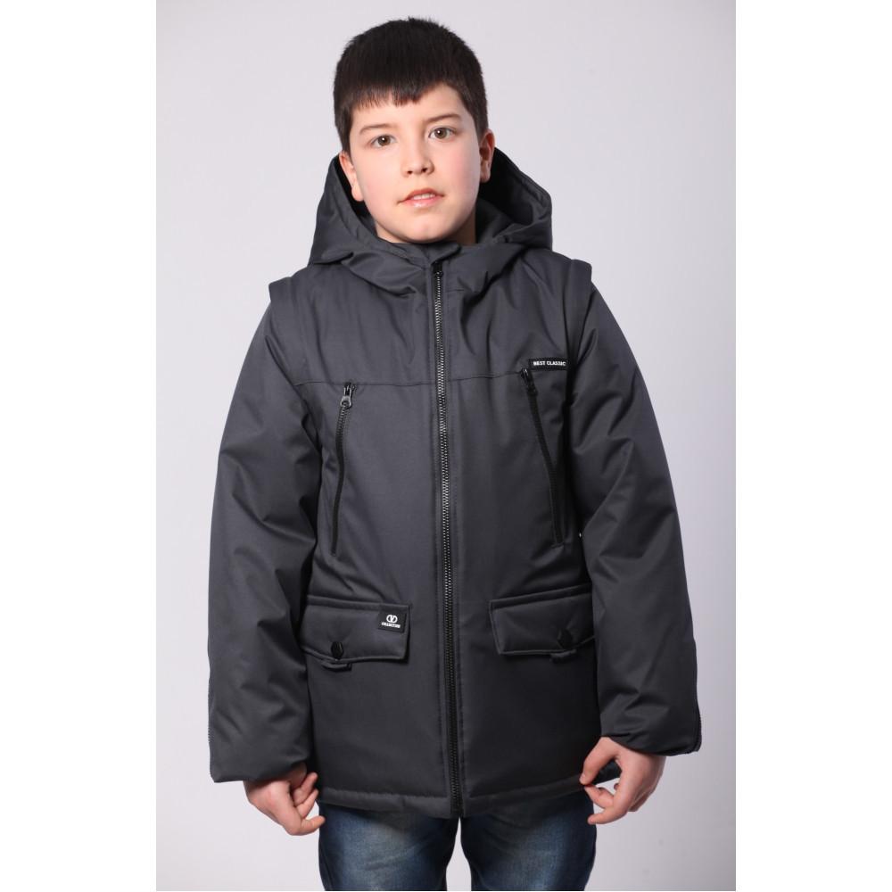 Подростковая демисезонная куртка для мальчиков  р. 36-42 (134-152) от 9 до 13 лет