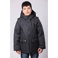 Подростковая демисезонная куртка для мальчиков  р. 36-42 (134-152) от 9 до 13 лет, фото 1
