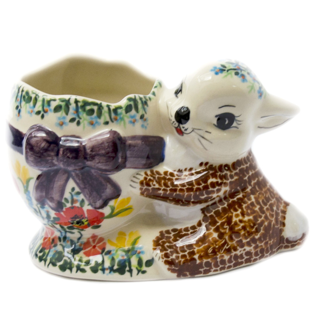 Статуетка керамічна Зайченя з кошиком