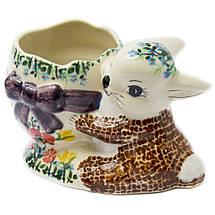 Статуетка керамічна Зайченя з кошиком, фото 2