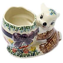 Статуетка керамічна Зайченя з кошиком, фото 3
