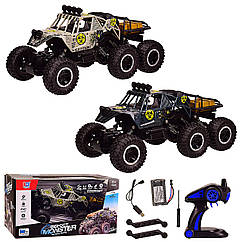Машина акум р|у 689-369 (9шт) BIG FOOT 2 кольори, 6-ти колісні, в кор. 48*25*25,5 см, р-р іграшки –