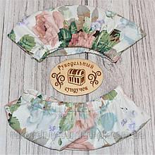 """Чохол-захист на раму ТМ """"Арабеска"""" шириною 32 см Яскраві троянди на молочному тлі"""