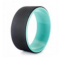 Колесо для йоги и фитнеса (йога кольцо) CF88 Yoga Wheel Мятный-черный (33х13 см) (MS 1842-MB)