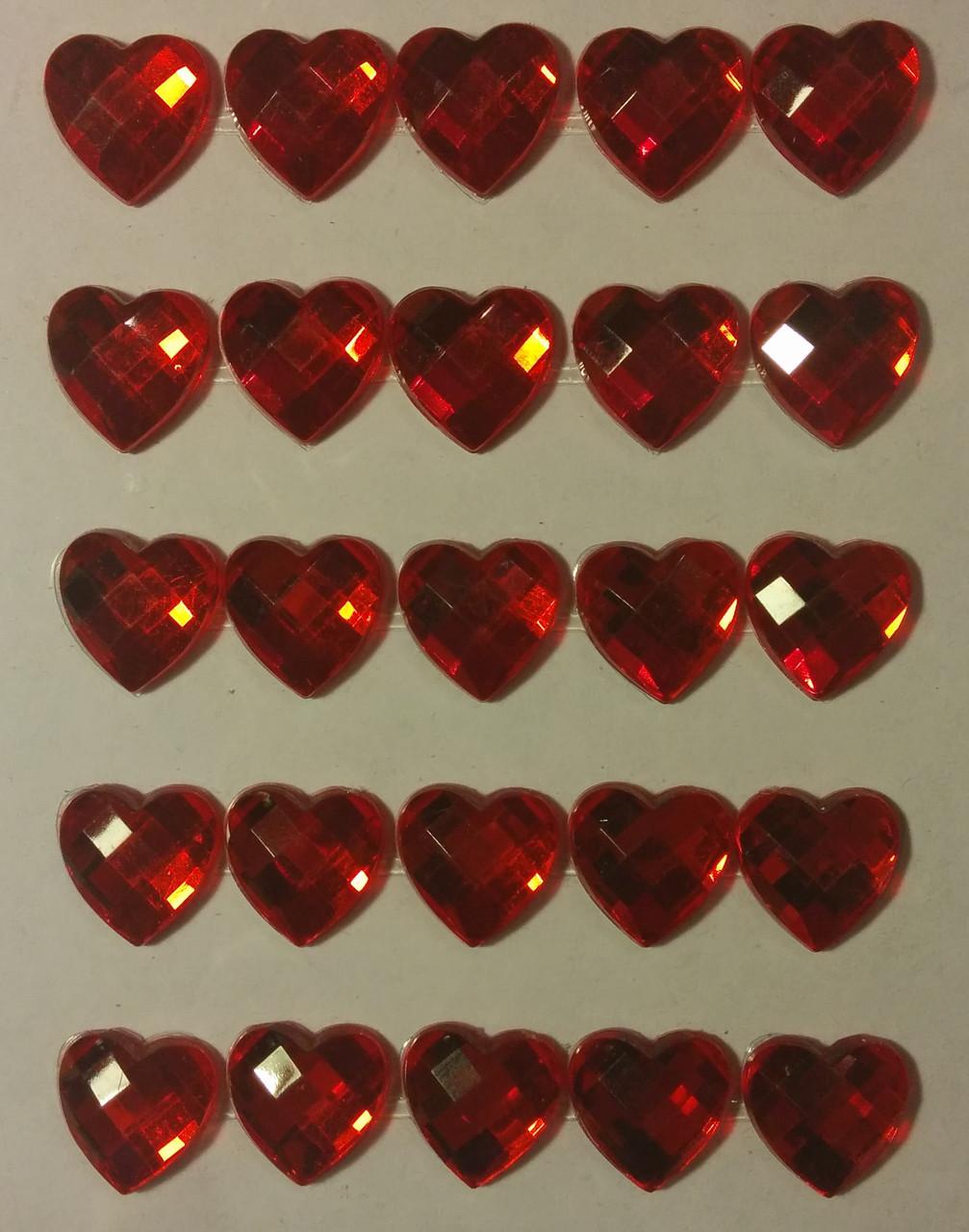 Клеевой камень Сердце ( 1.5 см, 25 шт) 13М147-15R