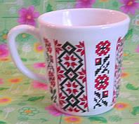 """Чашка сервизная """"Украинский орнамент"""""""