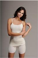 Термобелье женское шерстяное меринос (майка) белое 75% шерсти, фото 1
