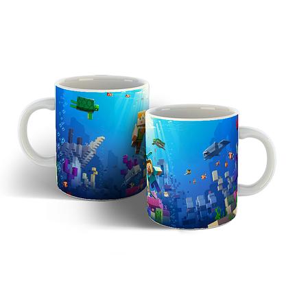 Чашка с фоном Майнкрафт., фото 2