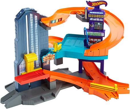 Трек Хот Вилс Спидтрополис Город скорости Hot Wheels Speedtropolis Playset, фото 2