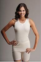 Термобелье женское шерстяное меринос (майка) белое 75% шерсти