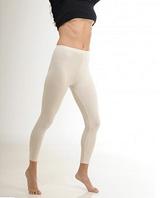 Термобелье женское шерстяное меринос (леггинсы) белое 75% шерсти