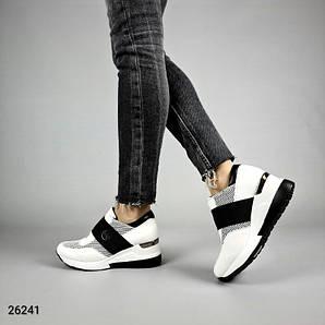 Кроссовки женские чёрно-белые