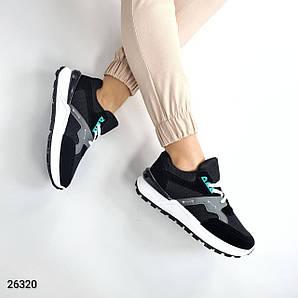 Кроссовки женские стильные, черные для спорта, лёгкие
