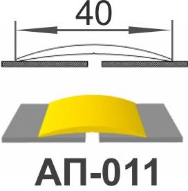 Алюминиевый порожек АП-011
