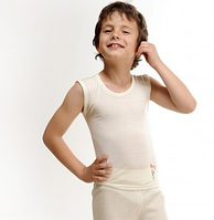 Термобелье детское шерстяное (майка) телесного цвета