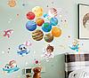 """Наклейка на стіну """"звірі в космосі!"""" 110см*78см наклейки в дитячу (лист 60*90см) в дитячий садок, фото 4"""