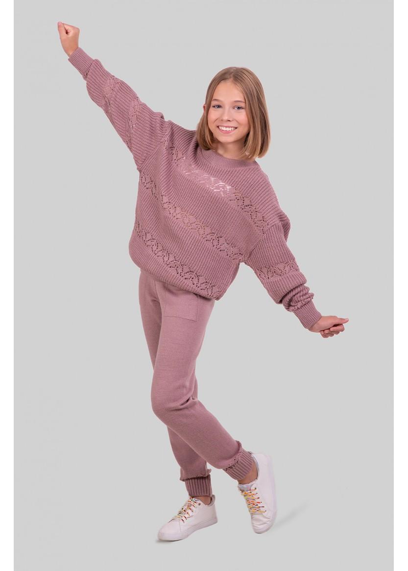 Костюм в'язаний дитячий з штанами розміри від 134 до 152