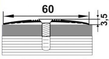 Алюминиевый порожек АП-014