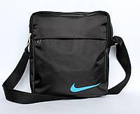 Спортивна чорна чоловіча сумка в стилі Nіке