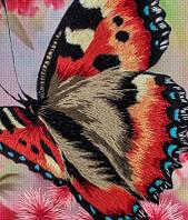Вышивка гладью Бабочка