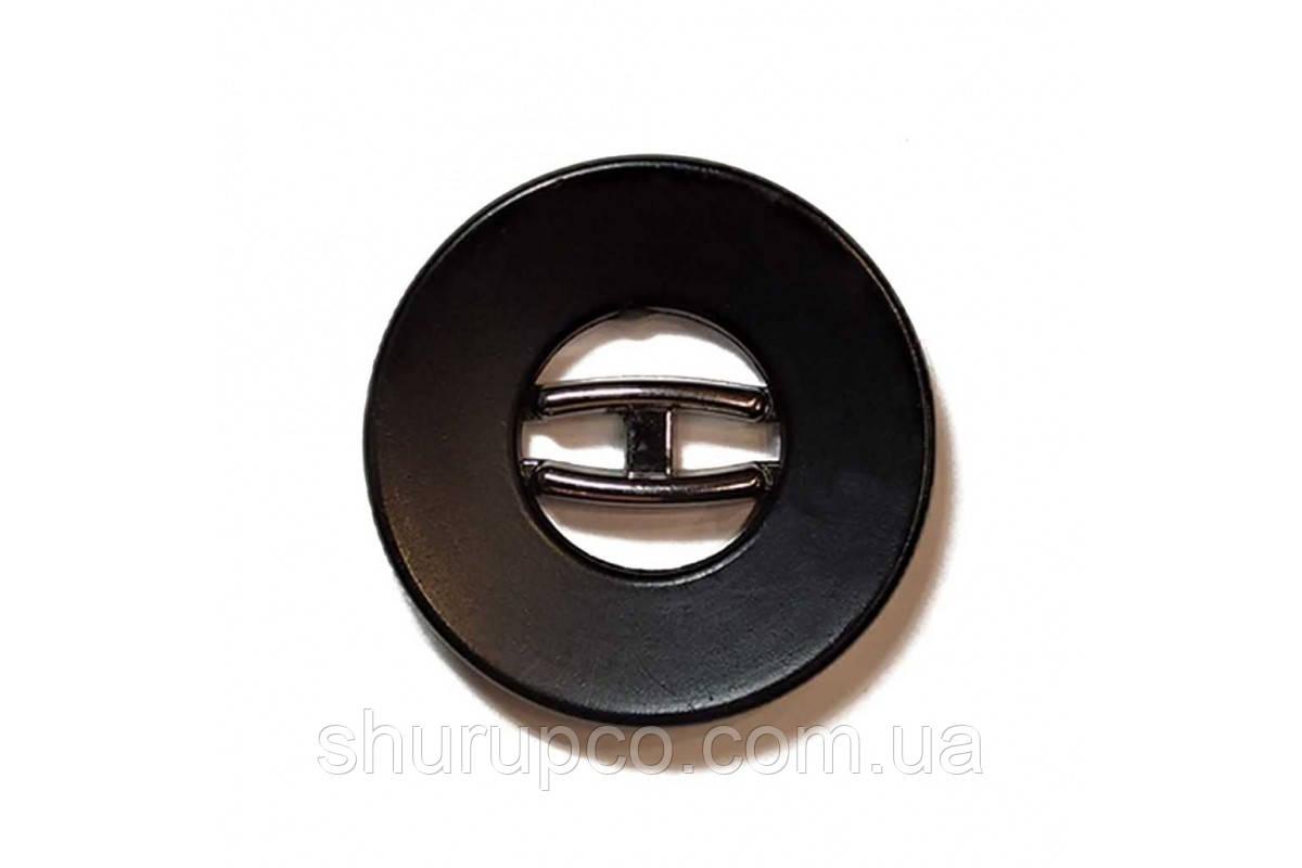 Пуговица на два удара 30 мм №136-1(ni) (100 шт)