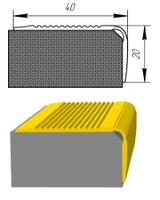 Алюминиевый порожек лестничный УЛ-127