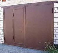 Ворота в гараж из металла заказать в Херсоне