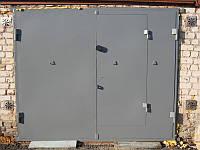 Ворота металлические с дверями в гараж под заказ в Херсоне