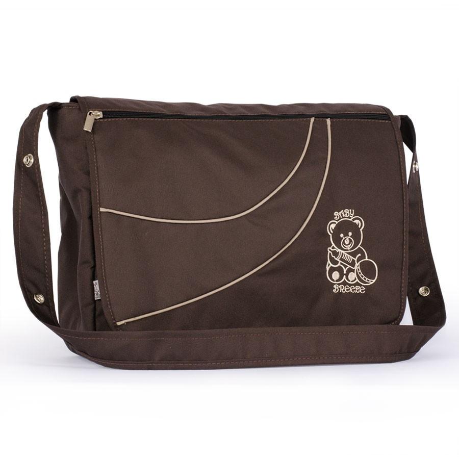 Универсальная сумка на коляску Baby Breeze из водоотталкивающей ткани 0351 шоколад