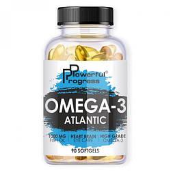 Жирні кислоти Powerful Progress Atlantic Omega-3, 90 капсул