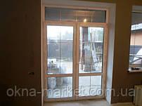Входные пластиковые двери в профиле REHAU с нажимным гарнитуром и шпросами - компания Окна Маркет 044 227-93-49