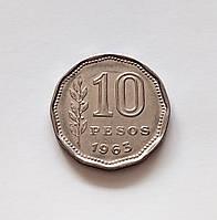 10 песо Аргентина 1963 р., фото 1