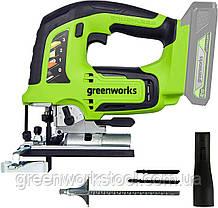 Лобзик акумуляторний Greenworks GD24JS  (амер.JS24L00 ) без АКБ і ЗП