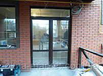 Ламинированные металлопластиковые двери со шпросами - оконная компания Окна Маркет 098 777-31-49