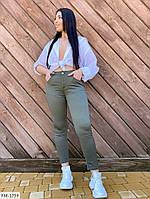 Стильные облегающие женские капри укороченные брюки летние большие размеры батал  р-ры 30-38 арт. ат9373/1