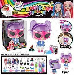 Ігровий набір лялька BELA DOLLS SURPRISE BL1169 (28шт) сумка у формі RAINBOW SURPRISE fashion dolls,
