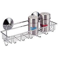 Полка прямоугольная для кухни-ванной 29*8*9см Besser 0520