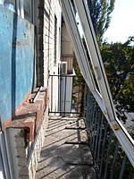 Остекление балкона с усилением парапета - оконная компания Окна Маркет 044 227-93-49
