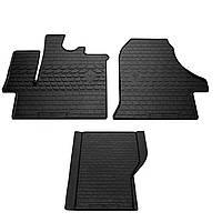 Резиновые коврики (3 шт, Stingray) Premium - без запаха резины для Fiat Ducato 2006↗ и 2014↗ гг.