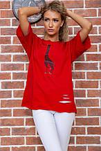 Футболка женская 102R210 цвет Красный