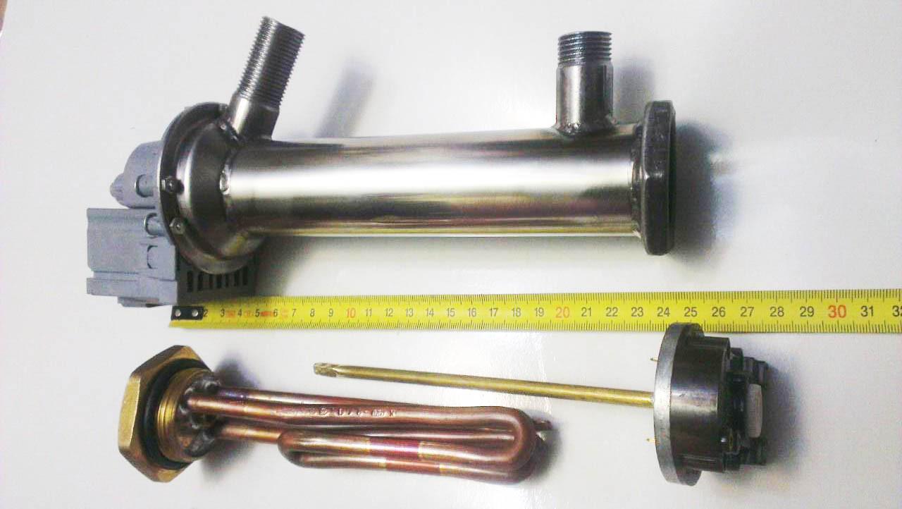 Нержавеющий проточный водонагреватель на 2,0 квт. 220в с помпой