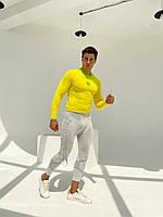 Kipsta з довгим рукавом термобілизна чоловіча жовта, фото 2
