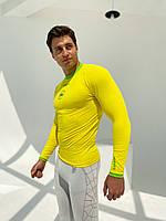 Kipsta с длинным рукавом термобелье мужское жёлтая, фото 3