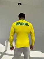 Kipsta с длинным рукавом термобелье мужское жёлтая, фото 6