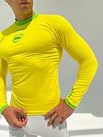 Kipsta с длинным рукавом термобелье мужское жёлтая, фото 4