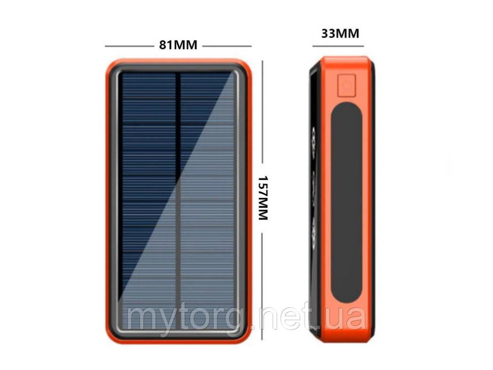 Внешний аккумулятор повербанк на 8000mAh с беспроводной зарядкой Powerbank  Оранжевый
