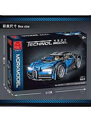"Конструктор техніки MOC 023001-1 ""MORK Bugatti Chiron"" Technic 1:14 1225 деталей."