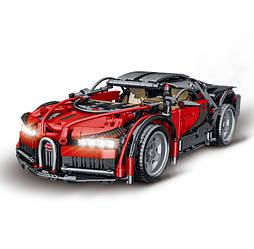 """Конструктор 023001-2 """"Bugatti Chiron"""" червоний Технік 1225 деталей."""